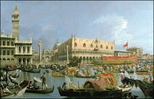 Canaletto's painting of the Bucintoro